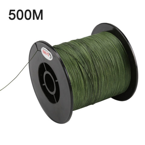 500M 30LB 0.26mm fishing line strength PE Braided 4 Strands green UK