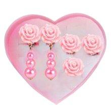 Children Stylish Clip-on Earrings A Lovely Earrings For Girls[Pink]