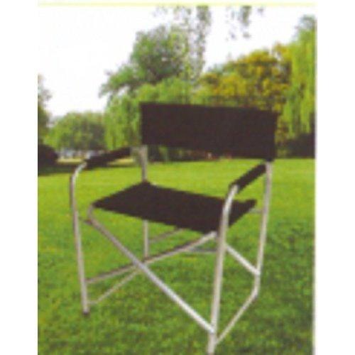 Redwood Bb-fc108b Aluminium Directors Chair -  chair directors black aluminium garden lightweight camping padded arms redwood bbfc108 foldable seat