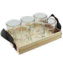 Yorkshire Medallion Shot Glasses 3.5oz / 100ml - Pack Of 6 | Mini Jam Jar Shot -  shot eddingtons yorkshire medallion glasses mason jar set 6