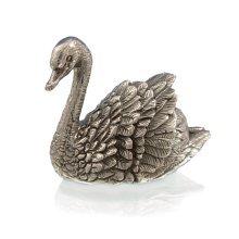 925 Sterling Silver Swan Bird Figure - British Water Birds.