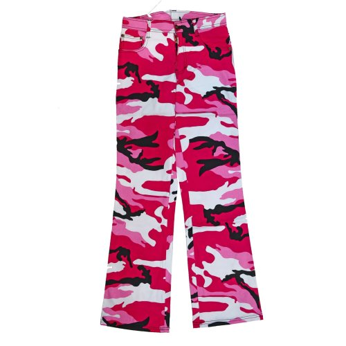 Military Combat Trousers Pink Camo Bright Pants