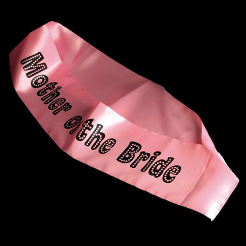 Miss Behave Hen Party Pink Sash with Black Writing - Mother of the Bride