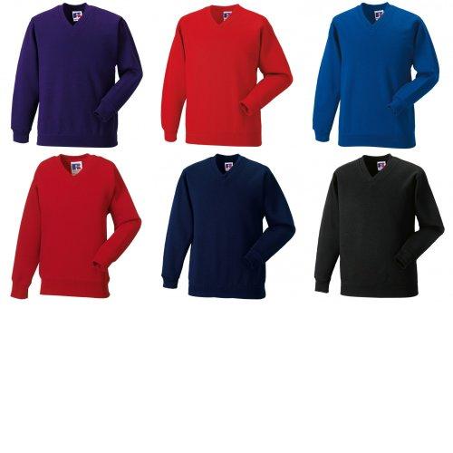 Jerzees Schoolgear Childrens V-Neck Sweatshirt (Pack of 2)