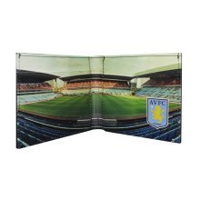 Aston Villa Fc Official Football Stadium Leather Wallet (one Size) - Panoramic -  aston villa leather wallet fc panoramic 801 official football club