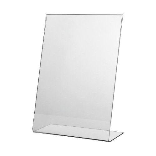 5x A4 Acrylic Poster Menu Holder Lean Back Leaflet Display Stands