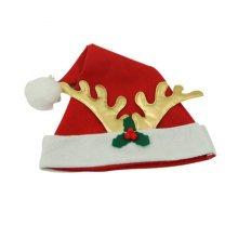 Set of 3 Christmas Hat Santa Hat for Christmas Decoration, Antler(Kids)