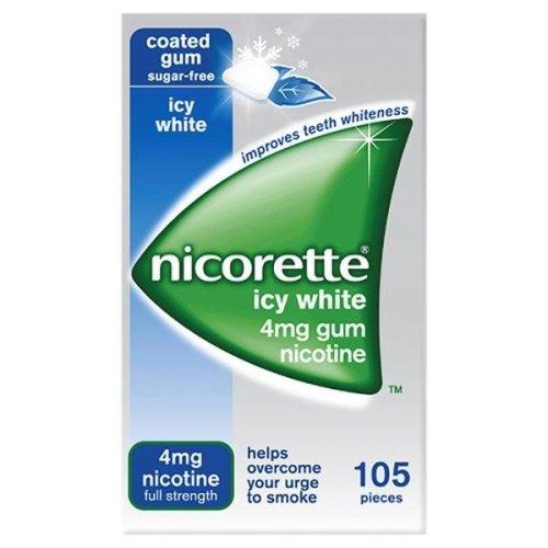 Nicorette Icy White 4mg Gum 105 Pieces