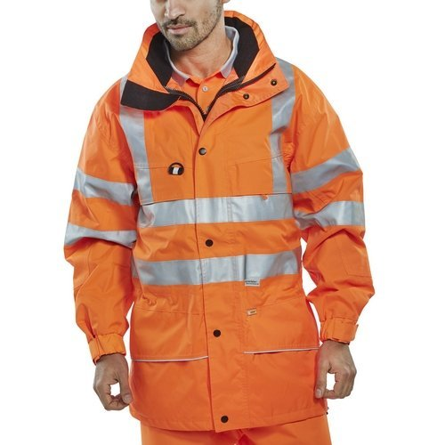 Click CARORXXL Hi Vis Orange Carnoustie Waterproof Jacket XXL