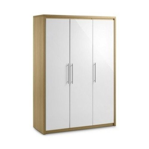 Sadat Oak Wardrobe - 3 Door