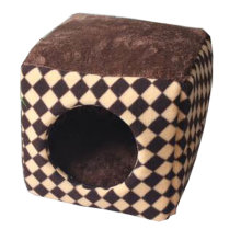 Four Seasons Universal Small-scale Pet House Cat Cave Cat Mat [Brown] [F]
