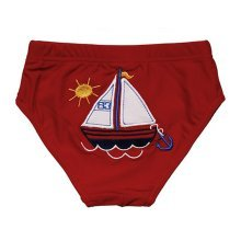 Lovely Sailing Boat Baby Infant Red Swim diapers/ Swim Brief, M Size