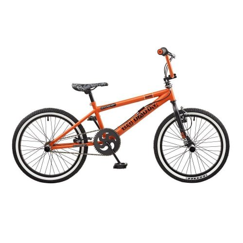 "Rooster Big Daddy Kids 20"" Wheel Freestyle BMX Bike Bicycle Orange Gyro RS122"