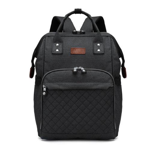 KONO Baby Changing Bag Diaper Nappy Backpack School Bag Black