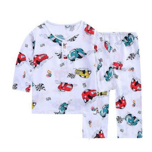 Boys Pajamas Fashion Truck Cotton Kids Clothes Short Sets Children Cartoon