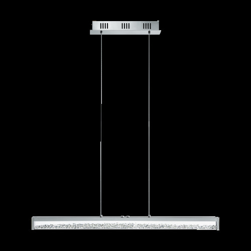 Eglo - Cardito 1 LED 6 Light Touch Operated Polished Chrome Bar Pendant With Glass Crystals EG93626