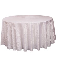 Wedding Banquets Hotels Tabletop Accessories Round Tablecloths Table Cover White (240x240 CM)