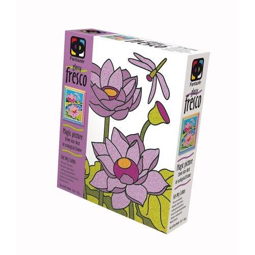 Elf407060 - Fantazer - Glossy Fresco Sand Picture - 4 Lotuses