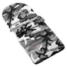 Fleece Footmuff Compatible With Mamas & Papas Aria Twin - Grey Camouflage