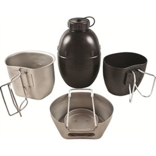 BCB CN010S Crusader Cooking System Silver 4 Piece