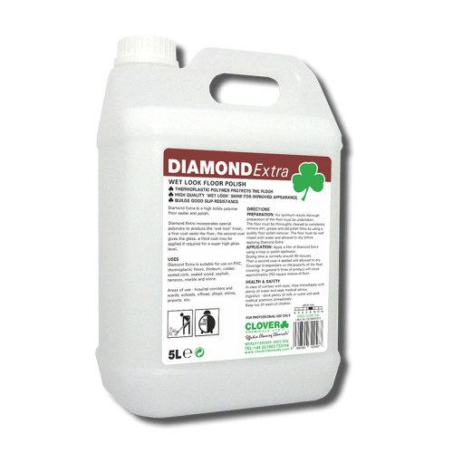 Clover Chemicals  Diamond Floor Polish Extra - High gloss wet look 5L