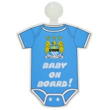 Manchester City Kit Baby On Board Sign - Multi-colour