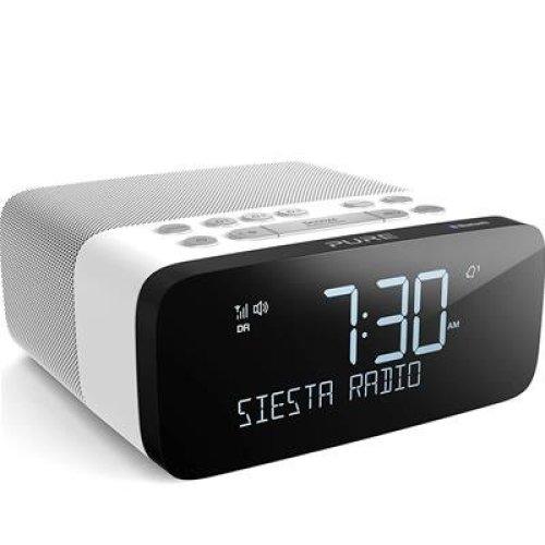 Pure Siesta Rise S Alarm Clock Radio with Bluetooth - Digital DAB+ / FM Radio - USB Phone Charging - CrystalVue Auto-dimming Display - Polar