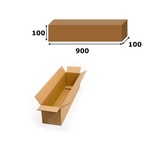 1x Postal Cardboard Box Long Mailing Shipping Carton 900x100x100mm Brown