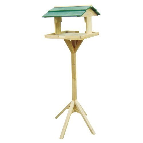 Redwood Bb-bh303 Wooden Bird Table - Traditional Garden Feeder Feeding Free -  wooden bird table traditional garden feeder feeding free standing