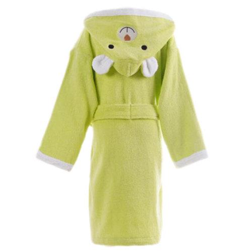Children Cotton Bathrobe Soft Swim Bath Gown Robes Pajamas with Hat-A02