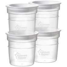 Tommee Tippee Closer To Nature Milk Storage Pots x4
