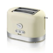 Swan 2 Slice Toaster with Browning Control - Cream (Model ST10020CREN)