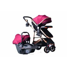 TomiKid Red 3-in-1 Combi Baby Buggy | Car Seat & Pushchair