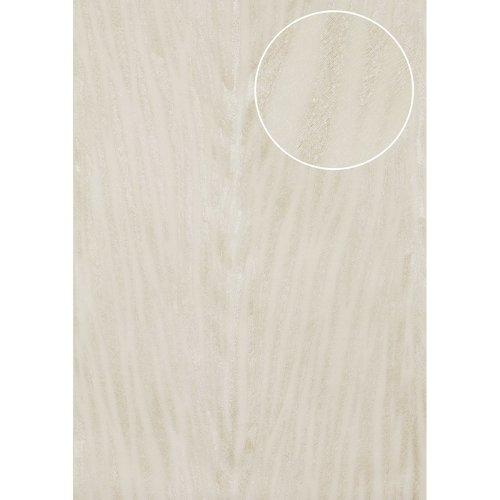 Atlas STI-5103-1 Animal pattern wallpaper shimmering white ivory 7.035 sqm