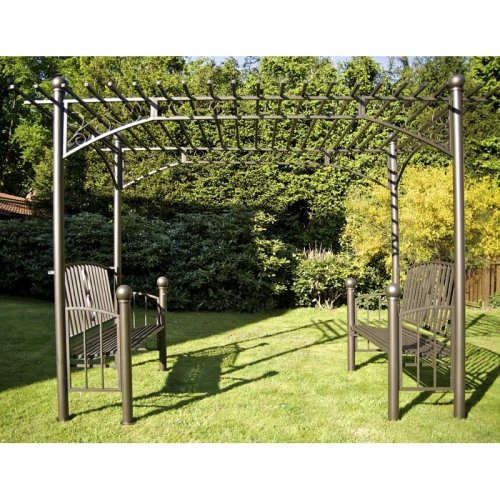 XXL Rose arch with 2 benches