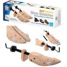 Top Home Solutions 2 x Mens Gents Shoe Stretchers Tree Wooden Shaper Bunion Corn Blister Size 7-12