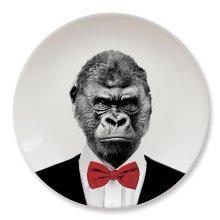 Wild Dining Party Animal Plate - Gorilla -  wild dining gorilla animal plates party lion dinner panda ceramic giraffe gary mustard