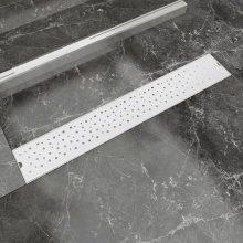 vidaXL Linear Shower Drain Bubble 730x140 mm Stainless Steel