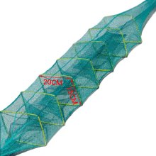 Fishing Net Baits Cast Mesh Trap for Small Fish Shrimp Crayfish Crab 1.5m - 4 Holes