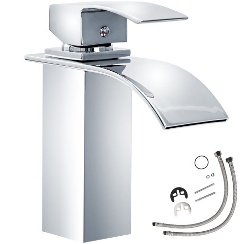Water faucet waterfall curved tap