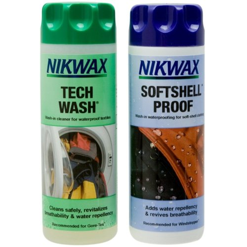 Nikwax Tech Wash/SoftShell Clean & Proof Twin Pack (300ml)