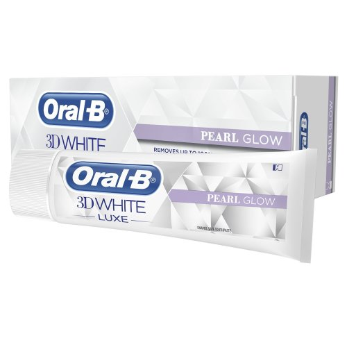 Oral-B 3D White Luxe Pearl Glow Toothpaste, 75 ml