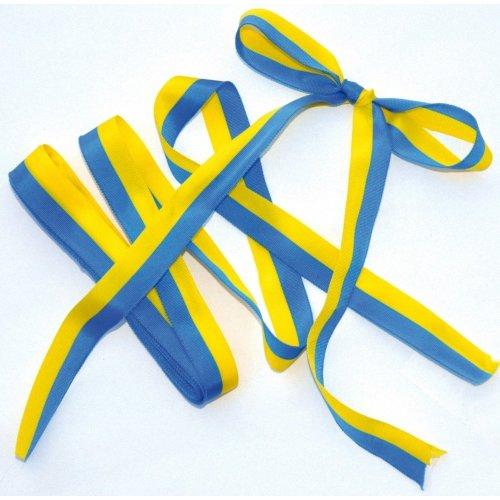 Pbx2470648 - Playbox - Satin Ribbon - Yellow / Blue - 5m X 15mm