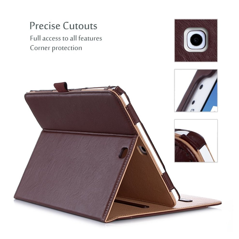 pretty nice 1bfda 5650b ProCase Samsung Galaxy Tab S2 9.7 Case - Leather Stand Folio Case Cover for  Galaxy Tab S2 Tablet (9.7 inch, SM-T810 T815 T813) -Brown