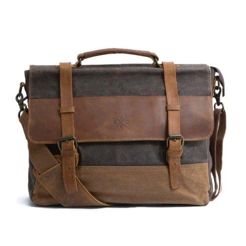 KOVERED Medway Messenger Bag - Earth Brown | Waxed Canvas Messenger Bag