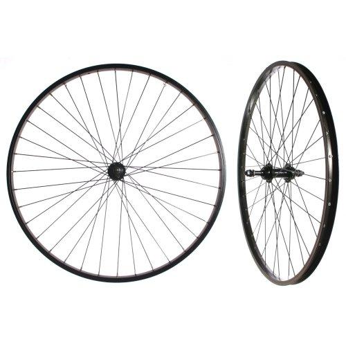 """Pair of 26"""" FULLY BLACK WHEELS Solid Axle 5/6/7 SPEED (Freewheel) BIKE CYCLE NEW"""