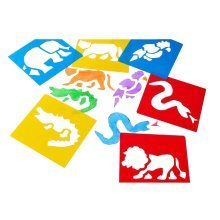 [Animals] 6 PCS Durable Baby Early Learning Painting Cards