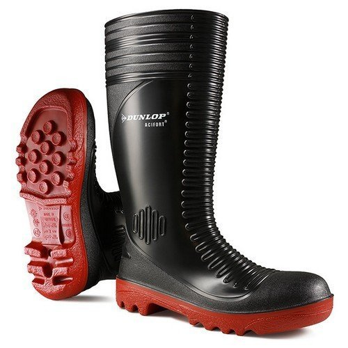 Dunlop A25293106 Actifort Ribbed Full Safety Wellington Black Size 6