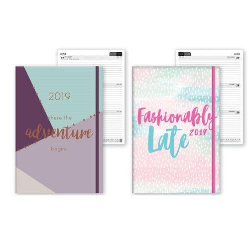 2019 A5 Week To View Diary Home Office Student Work WTV W2V Christmas Gift Softback