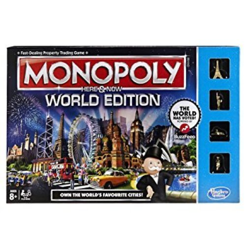 Here and Now World Edition Monopoly Family Board Game Brand New Sealed